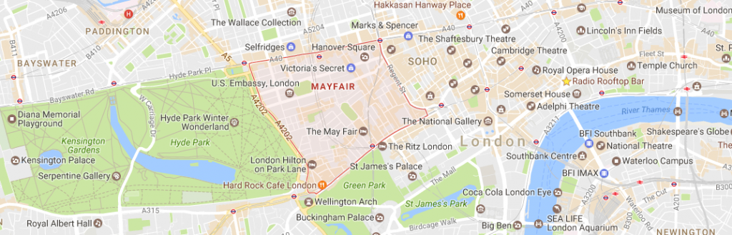 Map of Mayfair