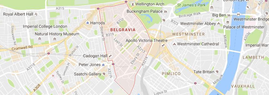map of belgravia. Local schools